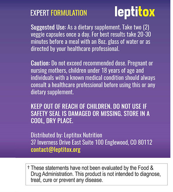 leptitox recommend use label