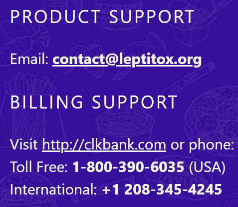 Leptitox support