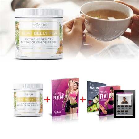 Purelife Organics Flat Belly Tea with Free 21 Day Flat Belly Fix Purchase