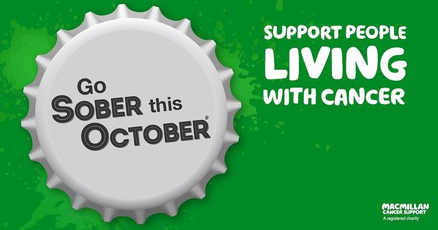 Support Macmillian Cancer Charity Go Sober for October